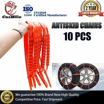 Winter Anti-skid Chains For Car Snow Mud Wheel Tyre Thickened Tire Tendon 10Pcs