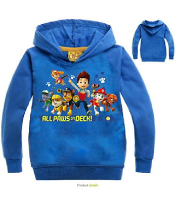 Toddler Boys Paw Patrol Pull Over Hoodie Jacket Sweatshirt O06