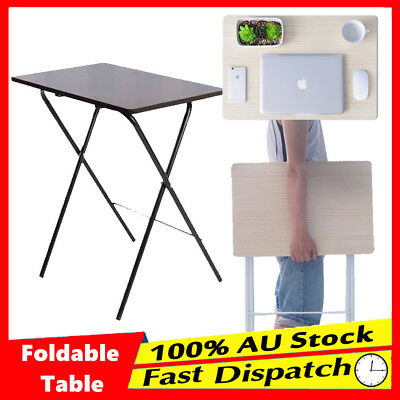 Foldable Table Laptop Trestle Tray Bed Portable Work Desk Mate TV Dinner Office