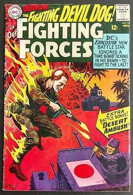 Our Fighting Forces #96 Fn--Sharp 1965 Fighting Devil Dog  Heath Cover,2 Stories