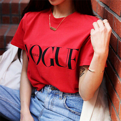 Fashion Girl Short Sleeve Tops Clothes For Women Vogue Letter Printed T-shirt