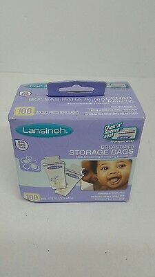 100 Count Breastmilk Storage Bags Pour Spout Sterilized Baby Feeding Care Milk