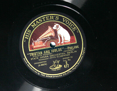 78rpm shellac Wagner - Tristan and Isolde Prelude