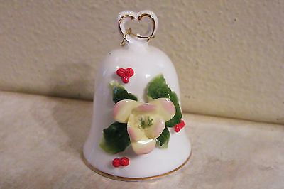 NAPCOWARE Bone China HOLLY BERRY FLOWER Christmas Bell Vintage NAPCO with TAG