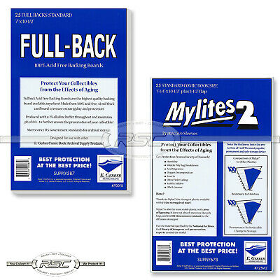 25 - GERBER FULL-BACK & MYLITES 2 STANDARD Mylar Bags & Boards 700FB/725M2 <50