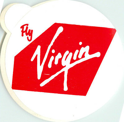 FLY VIRGIN - Seldom Seen Old VIRGIN ATLANTIC AIRLINE Luggage Label / Decal