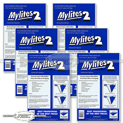 300 - Mylites 2 Standard Mylar Comic Book Bags Sleeves by E. Gerber - 725M2