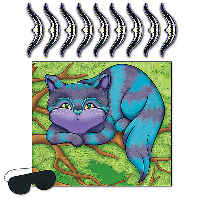 Pin The Smile On The Cheshire Cat Alice In Wonderland Party Game!