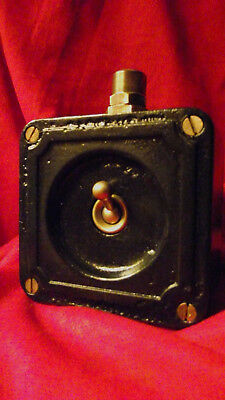 Vintage Industrial Light Switch Crabtree Cast Iron One Gang Early Art Deco Black