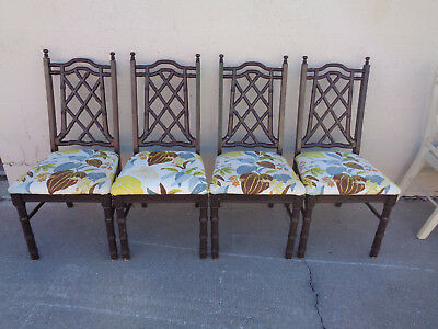 Swell Vtg Set 4 Meadowcraft Aluminum Faux Bamboo Chinese Squirreltailoven Fun Painted Chair Ideas Images Squirreltailovenorg