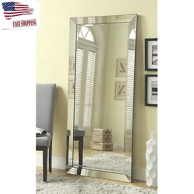 MIRRORS FOR WALL Full Length Free Standing Mirror Floor Body Lean ...