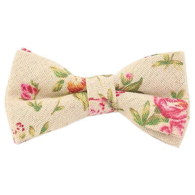 9e732ae31230 Children s Kids Boys Pink Floral Elasticated Cotton Bow Tie. Great Reviews.  UK.