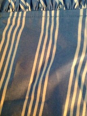 Longaberger Medium Waste Basket Liner - Sky Blue Stripe