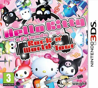 NINTENDO 3ds Juego Hello Kitty & Friends: Rockin ' MUNDO Tour 2ds COMPATIBLE