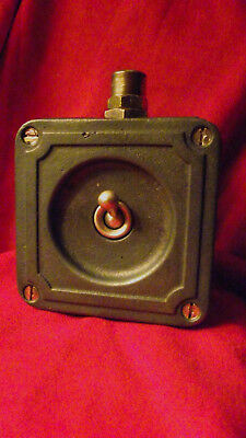 Vintage Industrial Light Switch Crabtree Cast Iron 1 One Gang Early Art Deco