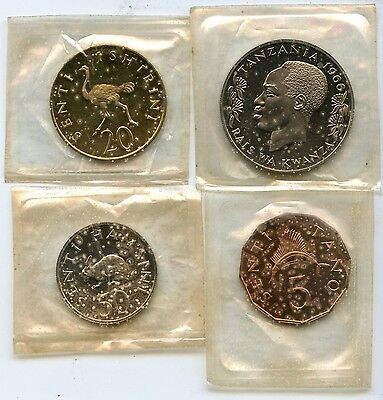 Tanzania 1966 Proof Coin Set - Royal Mint - JX508