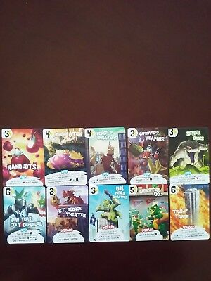 King of New York Promo Cards 10 Card Lot NEVER PLAYED
