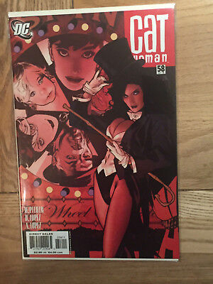 CATWOMAN #58 ADAM HUGHES cover art ZATANNA DC Comics AH 2006 nm-