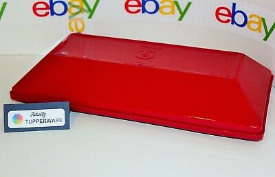 TUPPERWARE Get Together Rectangular Serving Dinner Buffet Tray 13 x 6.5 Red NEW!