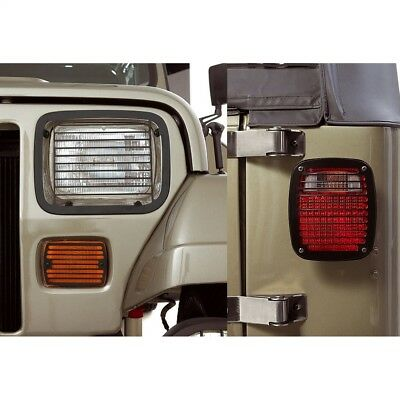 Headlight Guard-Billet Stone Guard Kit Rugged Ridge fits 87-95 Jeep Wrangler
