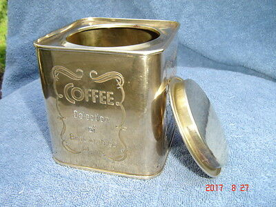 Vintage Brass Coffee Canister