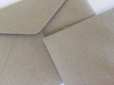20 Envelopes11B (90x145mm)100% Recycled Pulp C6 Quality Natural Grey Brown