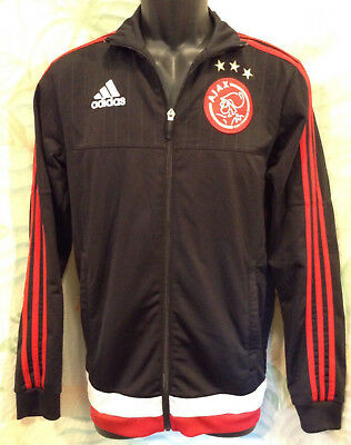 Adidas Ajax Amsterdam Presentation Warm Up Jacket Size XS Black Soccer S18385