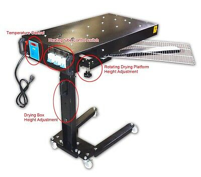 Screen Printing Flash Dryer Temperature Adjustable with Rotary Frame Cure Ink