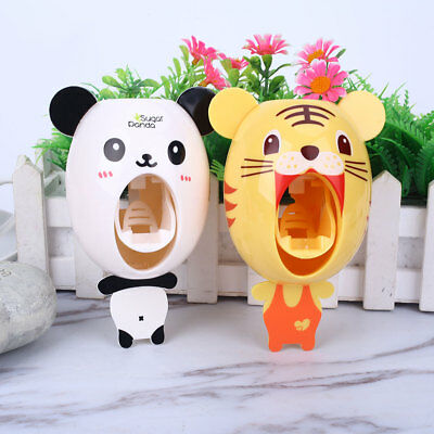 Automatic Toothpaste Dispenser Squeezing Holder Convenient Kids 6 Pattern