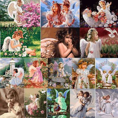 Angel Baby DIY Paint By Number Kit Digital Oil Painting Canvas Home Hall Decor