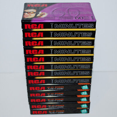 Lot of 13 RCA Blank Audio Cassette Tapes SEALED 60 & 90 Minute NOS Type I Normal