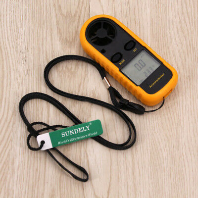 Wind Speed Meter Hand-gliding Digital LCD Handheld Anemometer Thermometer Gauge