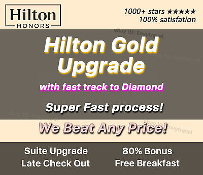 🔥 Hilton Honors Gold Upgrade with fast track to Diamond (1000+ stars!) 🔥