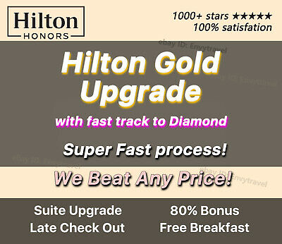 Hilton Diamond membership Honors(can be extended to Mar 2020)