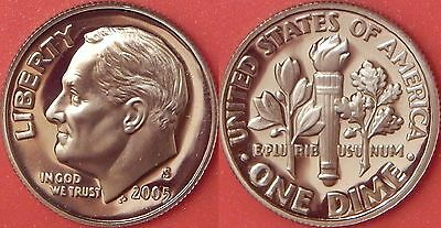 Proof 2005S US Roosevelt 10 Cents From Mint's Set