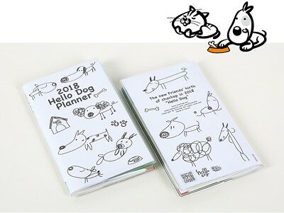 [2018 Hello Dog Planner]Dated Daily Yearly Diary Calendar Journal Scheduler Memo