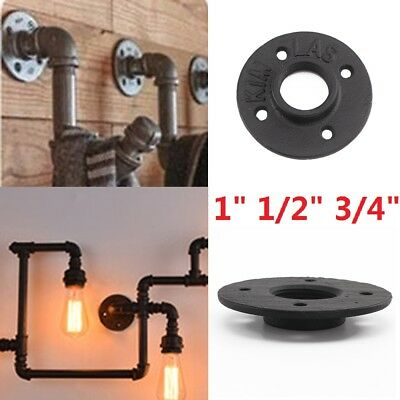 """1"""" 1/2"""" 3/4"""" BSP Malleable Threaded Floor Flange Iron Pipe Fittings Wall Mount"""