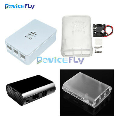 White/Black/Transparent/ABS Cover Box Case For Raspberry Pi 3, 2 Cooling Fan