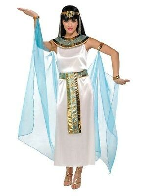 Ladies Egyptian Ruler Queen Cleopatra Fancy Dress Costume Outfit Plus Size 8-22