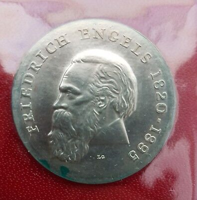 DDR Gedenkmünze 20 Mark 1970 FRIEDRICH ENGELS