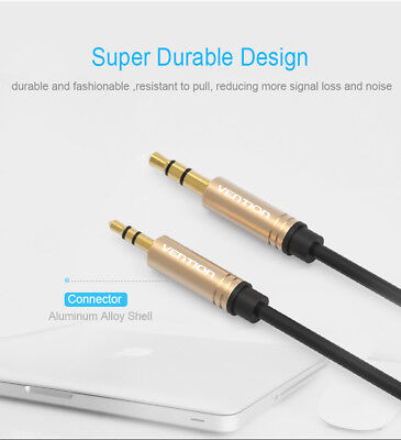 2.5mm to 3.5mm Male to Male Gold-plated Stereo Audio Jack Headphone Cable LOT 23