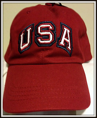 Usa Embroidered Kohls Adult Adjustable Buckle Back Osfa Cap Hat Free Shipping