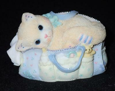 Enesco Calico Kittens 1998 Welcoming A Whole New Bag Of Tricks Figurine #488666