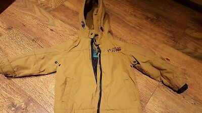 Next Boys Jacket Coat Hooded Size 18-24 Months Age 1 1/2-2 Brown Winter/warm