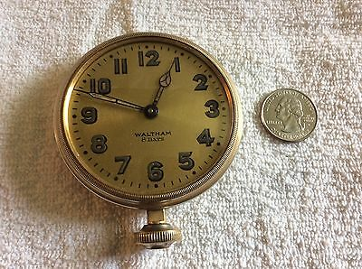 vintage early Art Deco style Large Size Auto Watch-Waltham Co. 8 Days -excellent