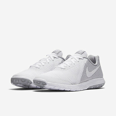 Nike Flex Experience RN 6 Womens 881805 100 White & silver Running Shoes Size 10