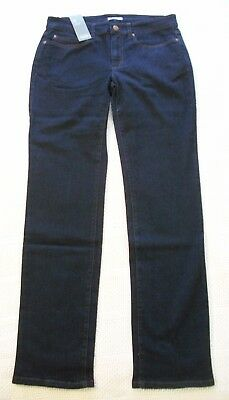 NWT EILEEN FISHER Straight JEANS Indigo Blue ORGANIC COTTON Stretch 8 NEW $178