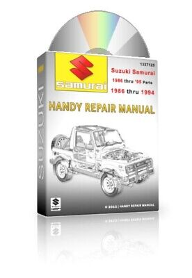 BEST 1987 1988 Suzuki Samurai Full Service Repair Manual/Parts Catalog +MORE CD