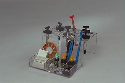 Affordable Dental Composite Organizer and accessories tray holds 28 syringes