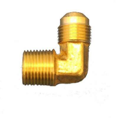 "HPC 90 Degree Male Elbow Brass Fitting, 3/8"" Tube, 3/8"" MIP"